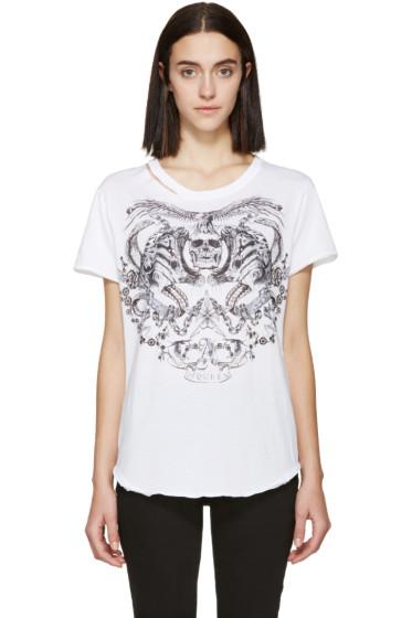Alexander McQueen - White Tattoo T-Shirt