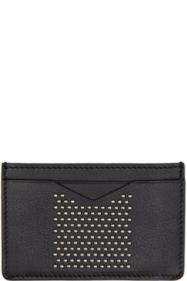 Alexander McQueen - Black Leather Studded Liliput Card Holder