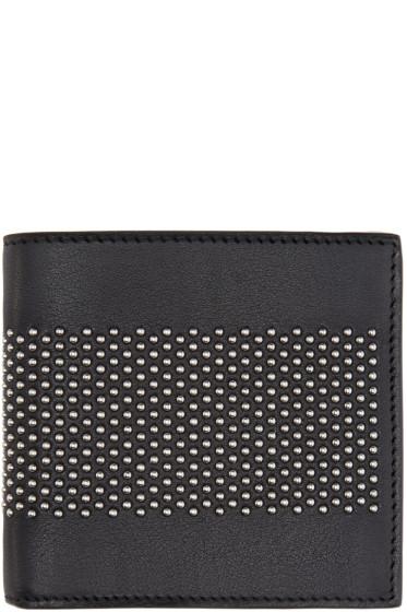 Alexander McQueen - Black Leather Studded Liliput Wallet