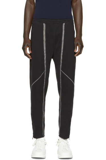 Alexander McQueen - Black Topstitched Lounge Pants