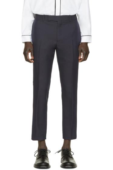 Alexander McQueen - Navy Gabardine Trousers