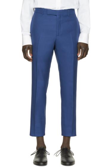 Alexander McQueen - Blue Gabardine Trousers