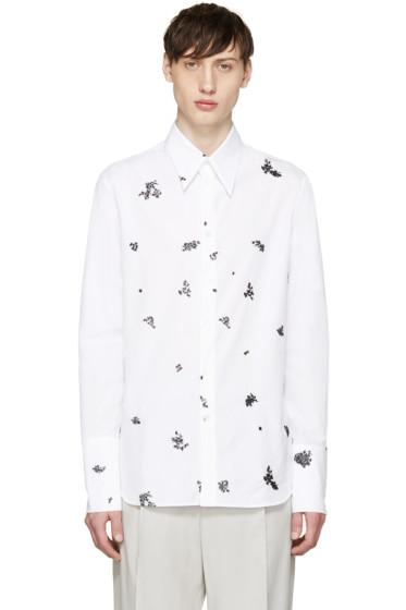 Alexander McQueen - White Poplin Topstitched Shirt