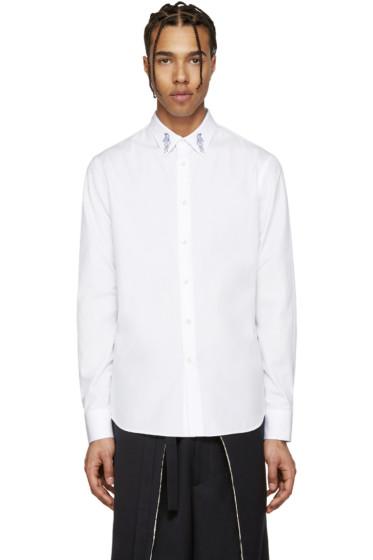 Alexander McQueen - White Poplin Dagger Shirt