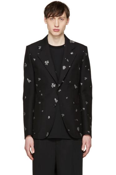 Alexander McQueen - Black Topstitched Blazer