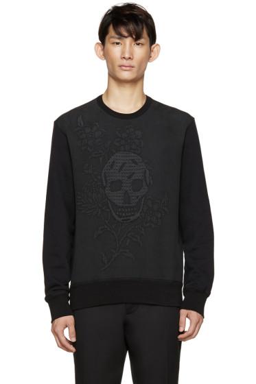 Alexander McQueen - Black Skull & Flower Sweatshirt