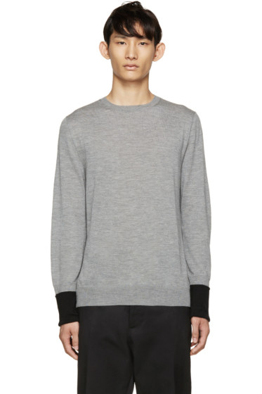 Alexander McQueen - Grey Cashmere Pullover