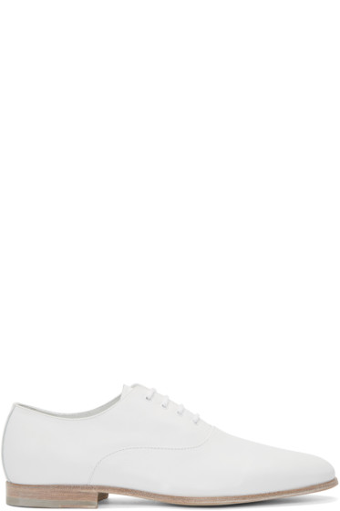 Alexander McQueen - White Leather Oxfords