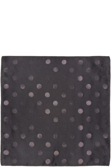 Paul Smith - Black & Grey Polka Dot Pocket Square