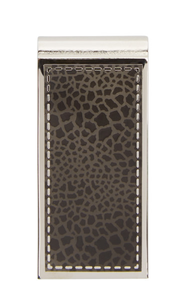 Paul Smith - Silver & Black Stitch Marble Money Clip