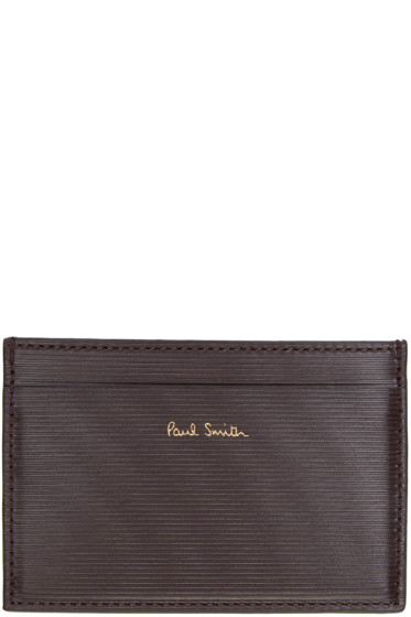 Paul Smith - Tricolor Leather Card Holder