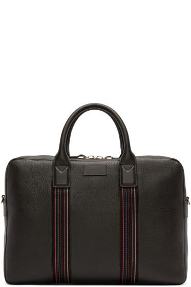Paul Smith - Black Leather Folio Briefcase