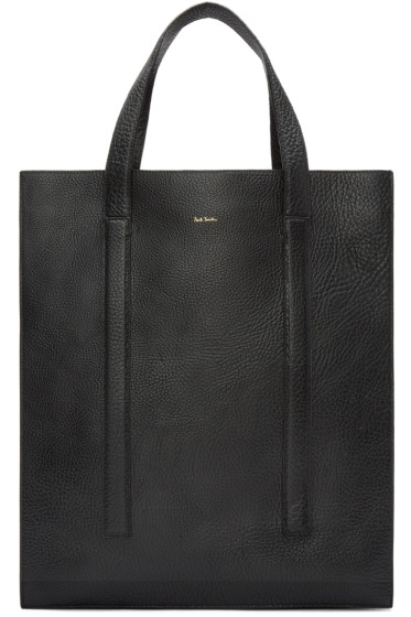 Paul Smith - Black Grained Leather Tote