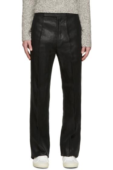 Paul Smith - Black Metallic Flare Trousers