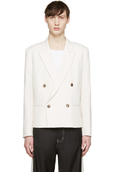 Paul Smith - Off-White Double-Breasted Blazer