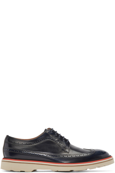 Paul Smith - Navy Leather Grand Brogues