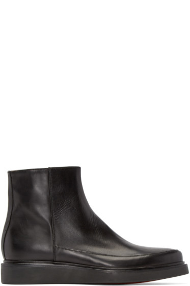 Paul Smith - Black Leather Emil Boots