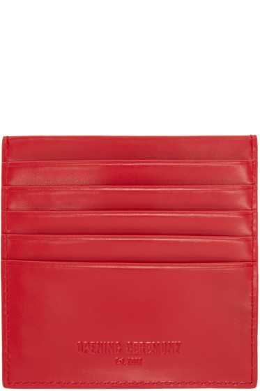 Opening Ceremony - Red Leather Square Cardholder
