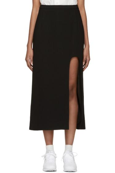 Opening Ceremony - Black Slitted Talene Skirt