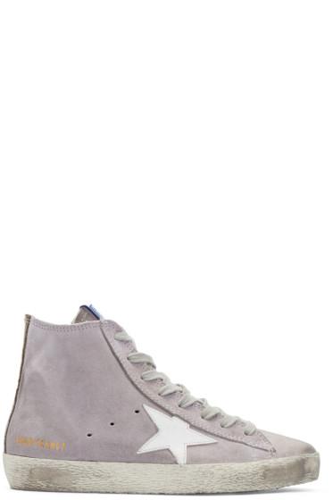 Golden Goose - Purple Francy High-Top Sneakers