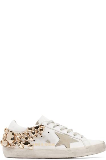 Golden Goose - White & Gold Superstar Sneakers