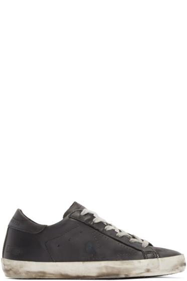 Golden Goose - Black Leather Superstar Sneakers