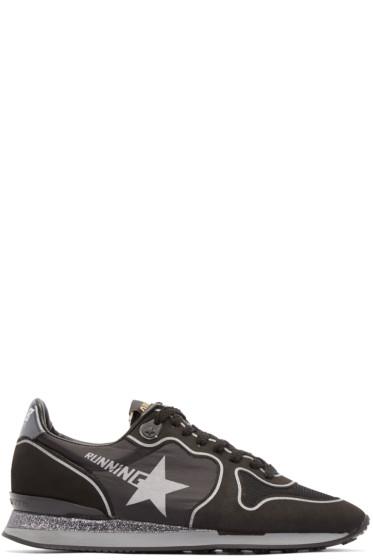 Golden Goose - Black Glitter Running Sneakers