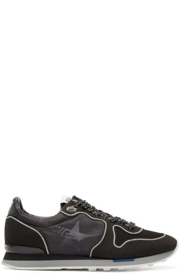 Golden Goose - Black Technical Neon Running Sneakers