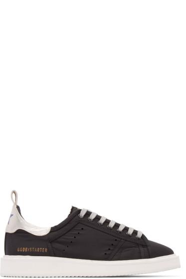 Golden Goose - Black Nylon Starter Sneakers