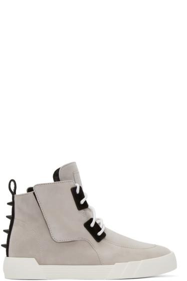 Giuseppe Zanotti - Grey Suede Foxy London High-Top Sneakers