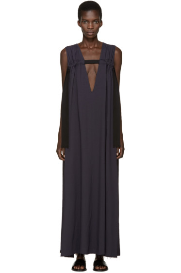 Damir Doma - Indigo V-Neck Tape Dress