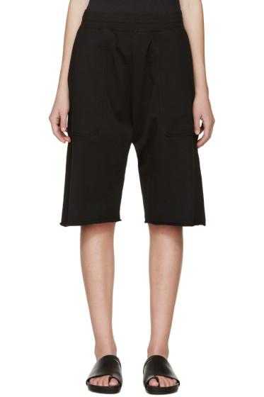 Damir Doma - Black Plumis Lounge Shorts