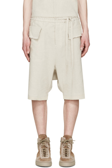 Damir Doma - Beige Woven Poline Shorts