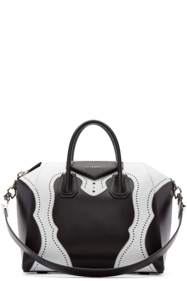 Givenchy - Black & White Brogue Animation Medium Antigona Bag