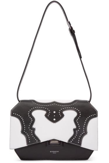Givenchy - Black & White Brogue Medium Bow Cut Bag