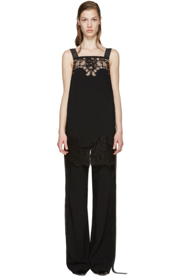 Givenchy - Black Lace Camisole Jumpsuit
