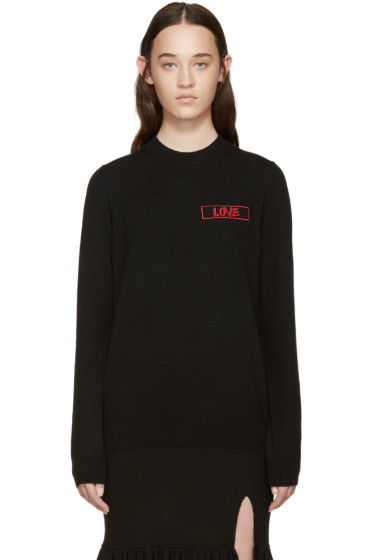 Givenchy - Black Cashmere Love Sweater