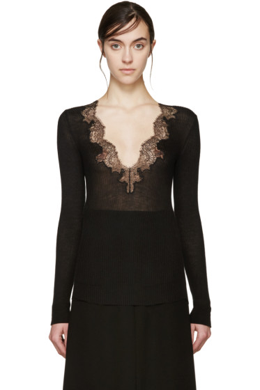 Givenchy - Black Cashmere Lace Sweater
