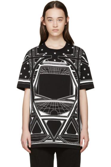 Givenchy - Black Geometric Star T-Shirt
