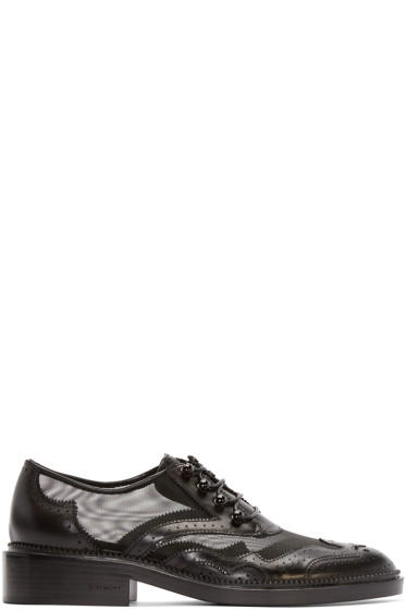 Givenchy - Black Leather & Mesh Brogues