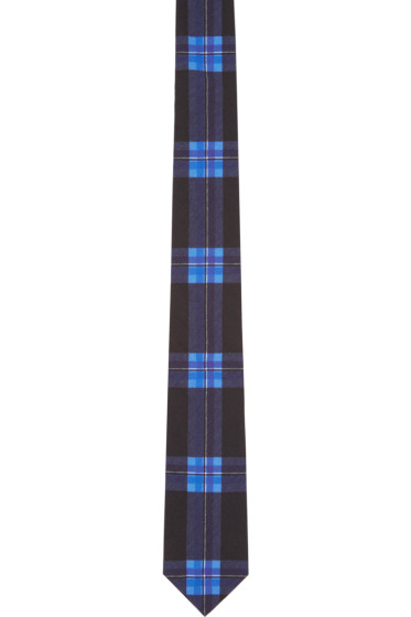 Givenchy - Black & Blue Check Tie