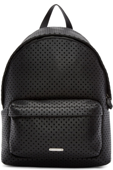 Givenchy - Black Perforated Leather Backpack