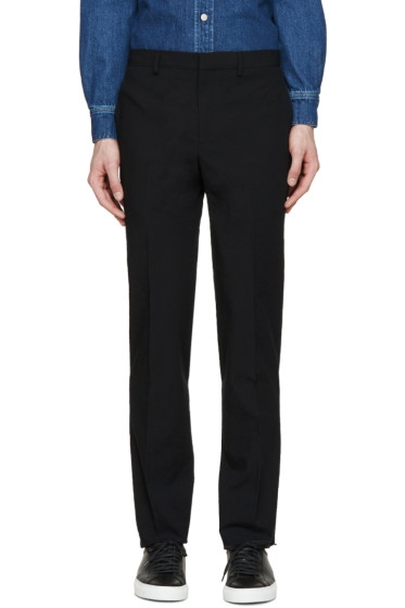 Givenchy - Black Seersucker Trousers