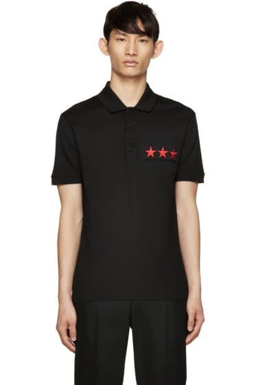 Givenchy - Black Star Pocket Polo