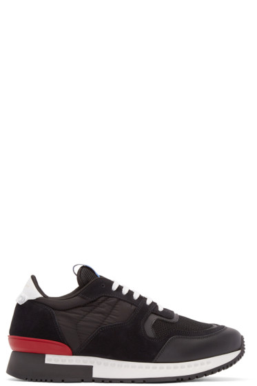 Givenchy - Black Leather & Nylon Sneakers