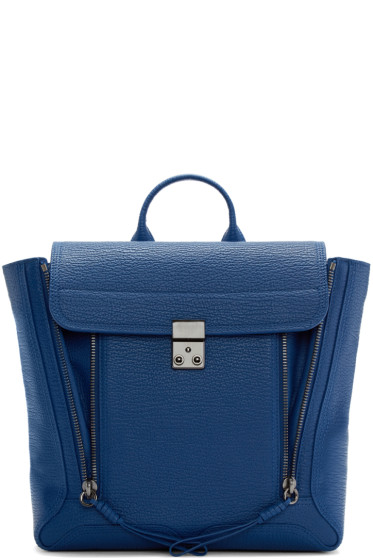 3.1 Phillip Lim - Blue Grainy Pashli Backpack