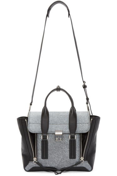 3.1 Phillip Lim - Black Speckled Medium Pashli Satchel