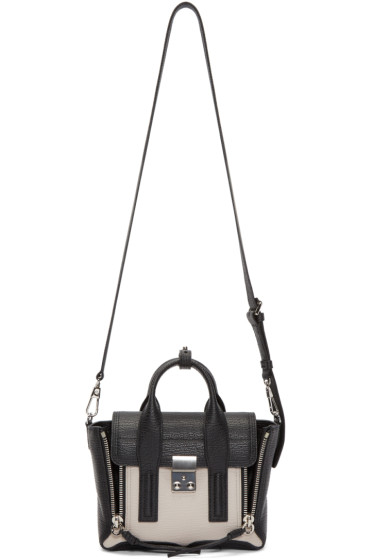 3.1 Phillip Lim - Black & Beige Mini Pashli Satchel