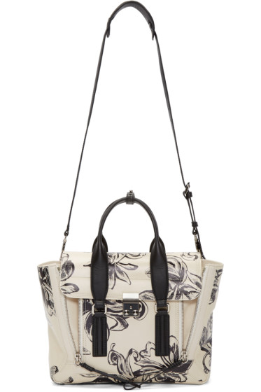 3.1 Phillip Lim - Off-White Floral Medium Pashli Satchel