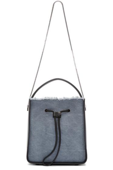 3.1 Phillip Lim - Black & Blue Denim Small Soleil Bag